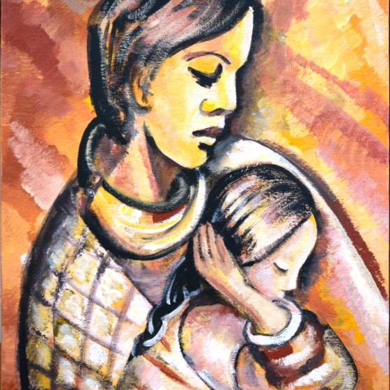 Madre con su hija en Chiapas