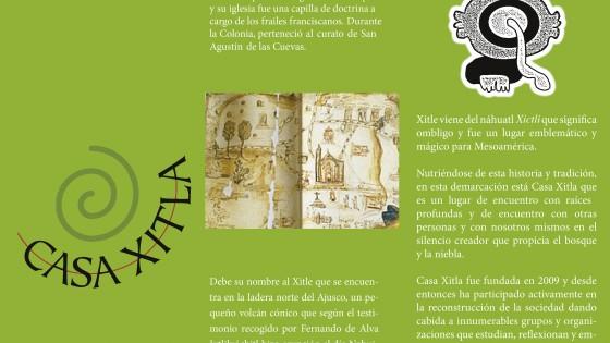 Triptico Sencillo Casa Xitla